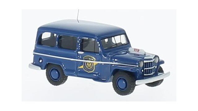 Jeep Willys Station Wagon blau, Michigan State Police,