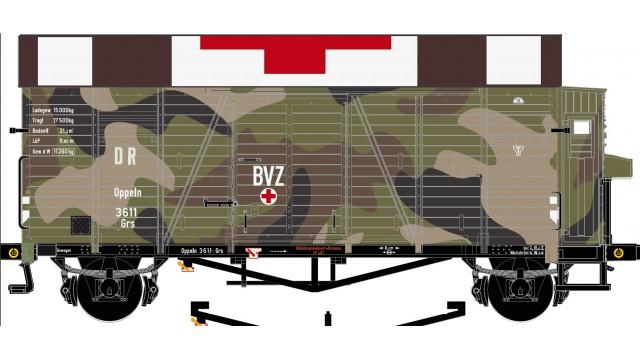 2-delige set, DRG Oppeln GRS Güterwagen (Camouflage rotes Kr