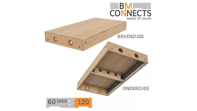 Gesloten module, 120x60 cm, inclusief beslag