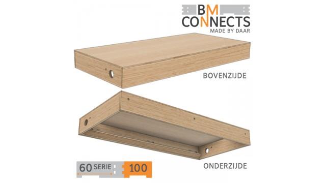 Frieslijst, 100x60 cm, inclusief beslag