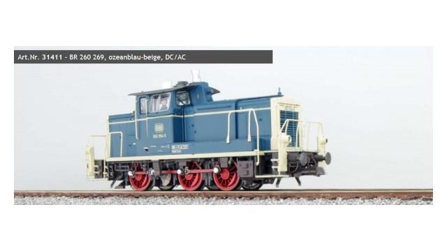 260 269, blau-beige, Ep IV, Sound+Rauch, el. Kupplung, DC/AC