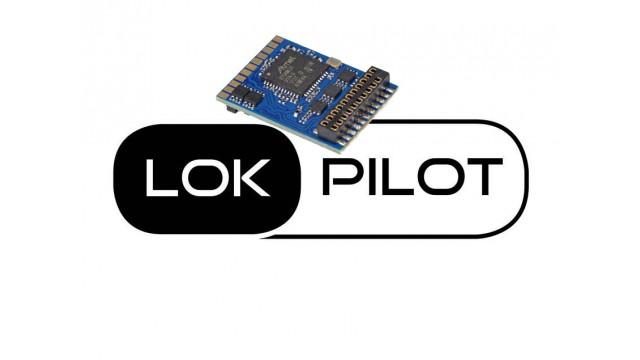 LokPilot 5 micro DCC/MM/SX, 6-pin Direkt gewinkelt, N, TT