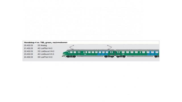 HK4 786, groen, reclamebanen, DC, LokSound