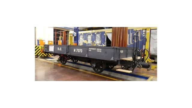 RhB M 7070 (WN 9853) Nostalgie-Niederbordwagen