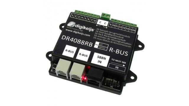 16-kanaals R-BUS terugmeldmodule met geintergreerde stroomde