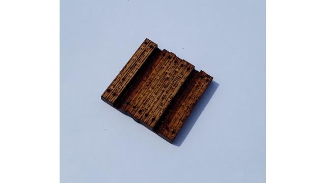 H0 - houten overweg breedte 35mm - ongeverfd