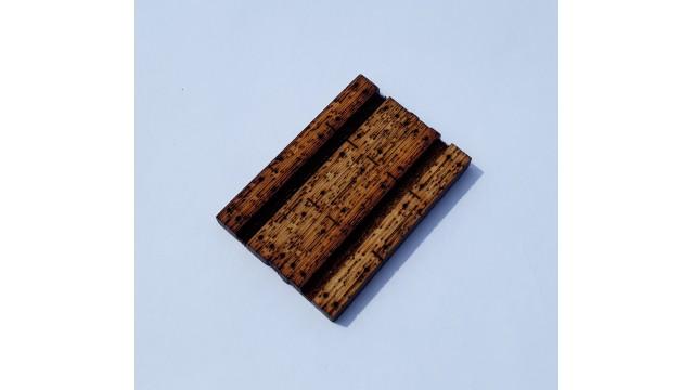 H0 - houten overweg breedte 45mm - ongeverfd