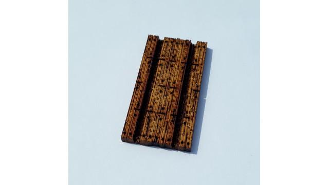 H0 - houten overweg breedte 70mm - ongeverfd