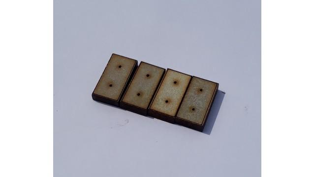 H0 - Stelconplaten - 10st half - geverfd