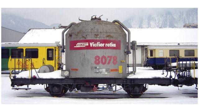 RhB Uce 8078 Zementsilowagen rotes Band