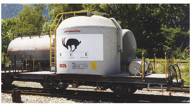 "RhB Uce 8076 Zementsilowagen ""BCU"" Plakat"