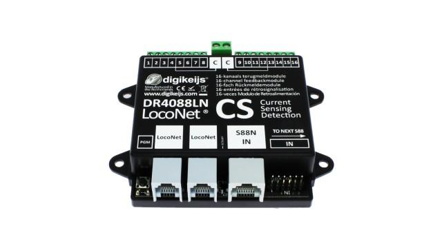 16-kanaals s88N LOCONET compatible met geintergreerde stroom