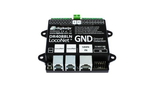 16-kanaals s88N LOCONET compatible met ground geschakelde in