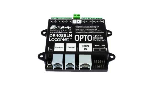16-kanaals s88N LOCONET compatible met geintergreerde optisc