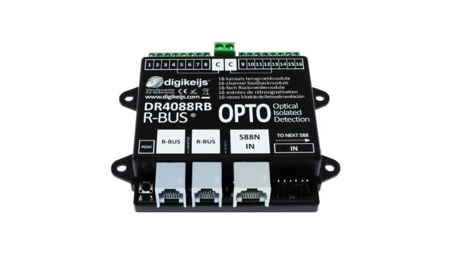 16-kanaals R-BUS terugmeldmodule met geintergreerde optische