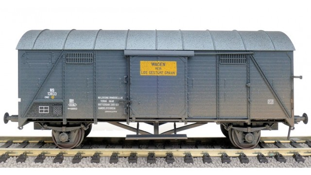 Geweatherd - NS X-CHG EUROP wagen - Los gestort graan