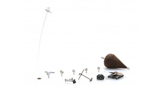 Havenkade spullen (boei, schroef, anker)