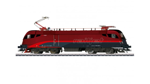 Uitloop - E-Lok Reihe 1116 railjet ÖBB