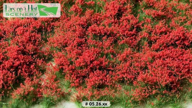 Bloemen rood, 15 x 21 cm